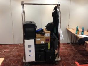 Technisches Equipment fertig für die Rückfahrt
