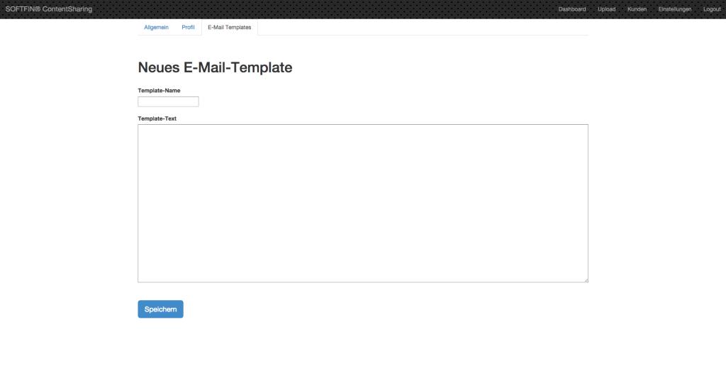 Anlage eigener E-Mail-Vorlagen