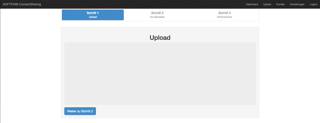 Upload 1. Schritt